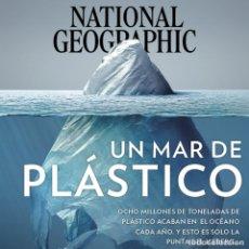 Coleccionismo de National Geographic: NATIONAL GEOGRAPHIC , JUNIO 2018, UN MAR DE PLÁSTICO. Lote 176436042