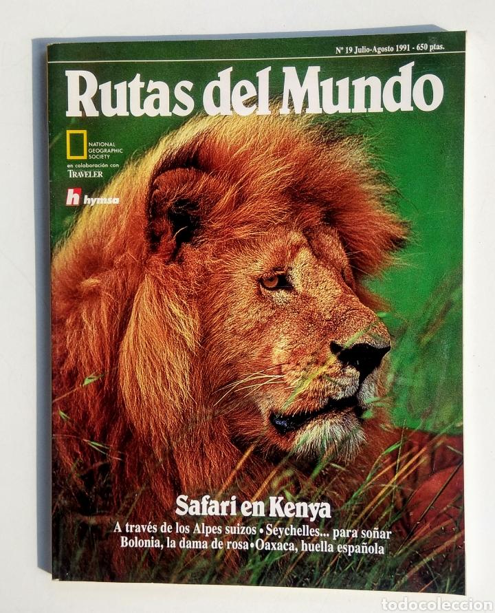 LOTE DE 3 REVISTAS. RUTAS DEL MUNDO. NATIONAL GEOGRAPHIC. (Coleccionismo - Revistas y Periódicos Modernos (a partir de 1.940) - Revista National Geographic)
