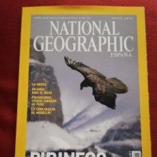Coleccionismo de National Geographic: REVISTA NATIONAL GEOGRAPHIC MARZO 2005 (PIRINEOS EN INVIERNO). Lote 181484093