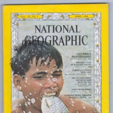 Coleccionismo de National Geographic: NATIONAL GEOGRAPHIC - INGLÉS - ABRIL AÑO 1968 - BUEN ESTADO. Lote 182728653