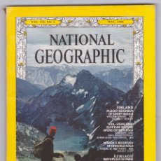 Coleccionismo de National Geographic: NATIONAL GEOGRAPHIC - INGLÉS - MAYO AÑO 1968: ÎLE DE LA CITÉ, BIRTHPLACE OF PARIS - BUEN ESTADO. Lote 182729405