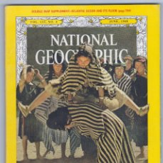 Coleccionismo de National Geographic: NATIONAL GEOGRAPHIC - INGLÉS - JUNIO 1968 - BUEN ESTADO. Lote 182786730
