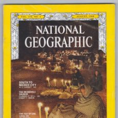 Coleccionismo de National Geographic: NATIONAL GEOGRAPHIC - INGLÉS - AGOSTO 1968 - BUEN ESTADO. Lote 182788118