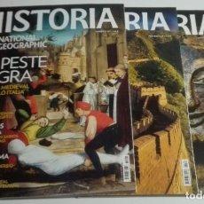 Coleccionismo de National Geographic: REVISTA HISTORIA NATIONAL GEOGRAPHIC - NÚMEROS 125, 126 Y 127 - PESTE NEGRA, GRAN MURALLA, ETRUSCOS. Lote 183955615