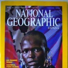 Coleccionismo de National Geographic: REVISTA NATIONAL GEOGRAPHIC FEBRERO 2 / 2006 SERENGETI FARAONES NEGROS CALIFORNIA OSOS. Lote 184800365