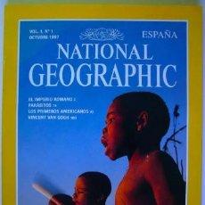 Coleccionismo de National Geographic: REVISTA NATIONAL GEOGRAPHIC Nº 1 OCTUBRE 10 / 1997 IMPERIO ROMANO VAN GOGH PRIMEROS AMERICANOS. Lote 184801082