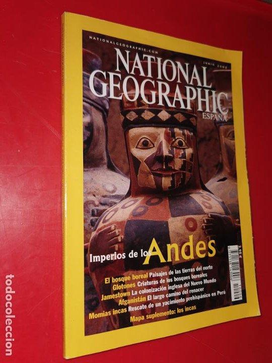 NATIONAL GEOGRAPHIC. JUNIO 2002 IMPERIOS DE LOS ANDES (Coleccionismo - Revistas y Periódicos Modernos (a partir de 1.940) - Revista National Geographic)