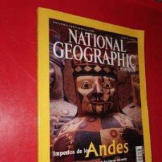 Coleccionismo de National Geographic: NATIONAL GEOGRAPHIC. JUNIO 2002 IMPERIOS DE LOS ANDES. Lote 185674286