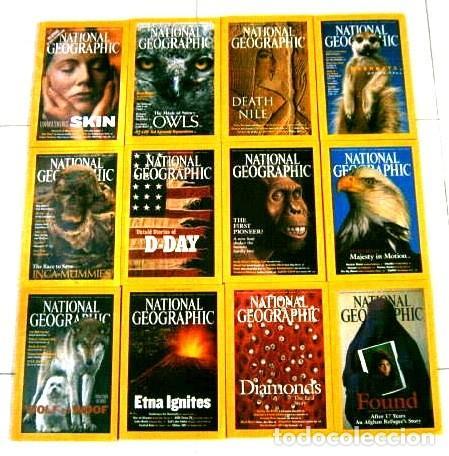 12 REVISTAS NATIONAL GEOGRAPHIC (AÑO 2002 COMPLETO) EDICIÓN ORIGINAL NORTEAMERICANA EN INGLÉS (Coleccionismo - Revistas y Periódicos Modernos (a partir de 1.940) - Revista National Geographic)