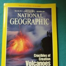 Collezionismo di National Geographic: NATIONAL GEOGRAPHIC VOL. 182 Nº 6. DICIEMBRE 1992. CRUCIBLES OF CREATION VOLCANOES. Lote 191035355