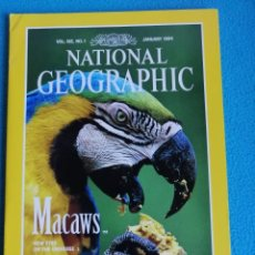 Colecionismo da National Geographic: NATIONAL GEOGRAPHIC VOL. 185 Nº 1. ENERO 1994 . MACAWS. Lote 191036070