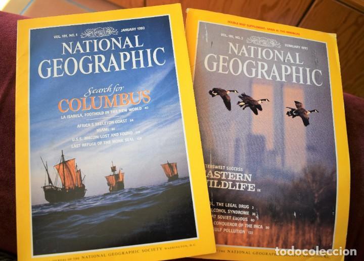 NATIONAL GEOGRAPHIC - 43 NUMEROS DE 1989 A 1997 (Coleccionismo - Revistas y Periódicos Modernos (a partir de 1.940) - Revista National Geographic)