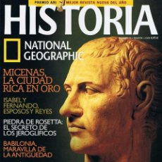 Coleccionismo de National Geographic: TÍTULO:REVISTA HISTORIA NATIONAL GEOGRAPHIC Nº 15 - LA MUERTE DE JULIO CÉSAR, MICENAS. Lote 194064848