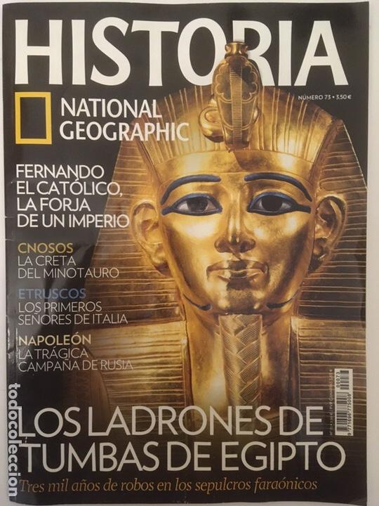HISTORIA - LADRONES DE TUMBAS DE EGIPTO (Coleccionismo - Revistas y Periódicos Modernos (a partir de 1.940) - Revista National Geographic)