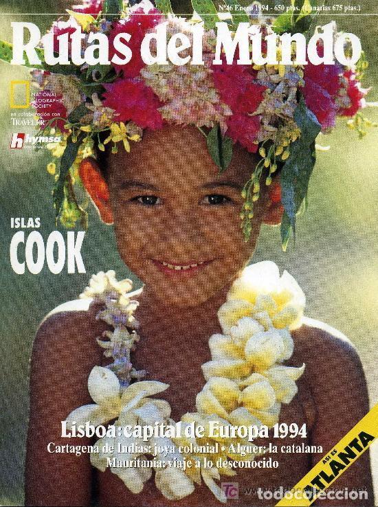 RUTAS DEL MUNDO - ENERO 1994 (Coleccionismo - Revistas y Periódicos Modernos (a partir de 1.940) - Revista National Geographic)