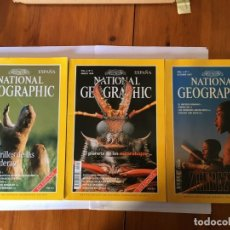 Coleccionismo de National Geographic: REVISTA NATIONAL GEOGRAPHIC VOL, 1 Nº1 AÑO 1997- VOL,2, Nº3 - VOL,2 , Nº 3 --1998 LOTE 3 REV.. Lote 194942111