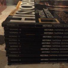 Coleccionismo de National Geographic: LOTE 13 REVISTAS NATIONAL GEOGRAPHIC HISTORIA - NG - VARIOS PRIMEROS NÚMEROS. Lote 195572421