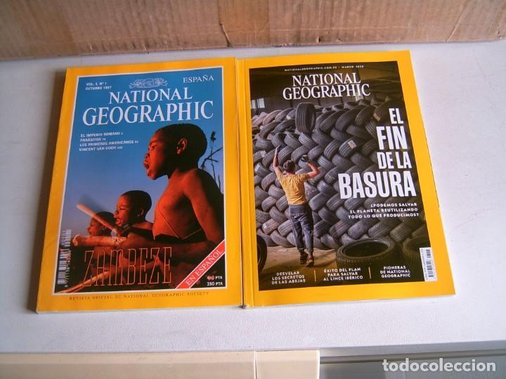 LOTE DE NATIONAL GEOGRAPHIC (Coleccionismo - Revistas y Periódicos Modernos (a partir de 1.940) - Revista National Geographic)