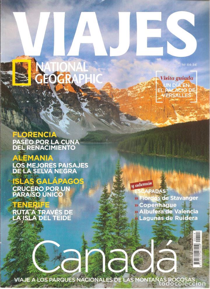 1542. VIAJES: FLORENCIA. SELVA NEGRA. GALAPAGOS. TENERIFE. CANADA (Coleccionismo - Revistas y Periódicos Modernos (a partir de 1.940) - Revista National Geographic)