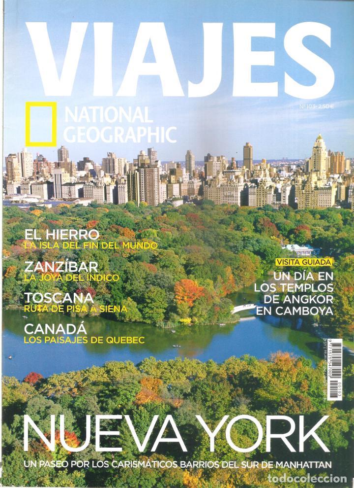 1549. VIAJES: EL HIERRO. ZANZIBAR. TOSCANA. CANADA. NUEVA YORK. ANGKOR (Coleccionismo - Revistas y Periódicos Modernos (a partir de 1.940) - Revista National Geographic)