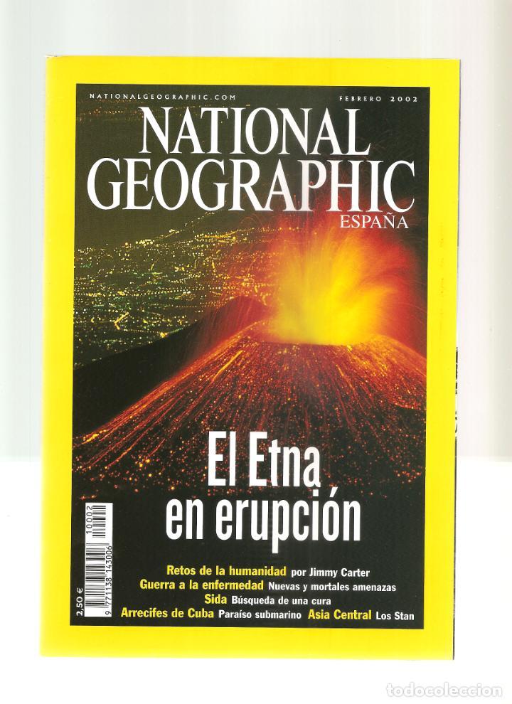 1558. FEBRERO 2002. ETNA. ENFERMEDAD. SIDA. CUBA. LOS STAN (Coleccionismo - Revistas y Periódicos Modernos (a partir de 1.940) - Revista National Geographic)