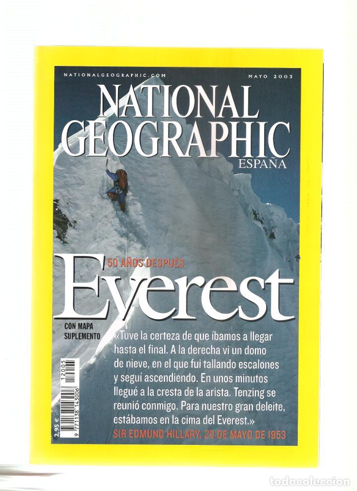 1569. MAYO 2003. EVEREST. MAPA. (Coleccionismo - Revistas y Periódicos Modernos (a partir de 1.940) - Revista National Geographic)