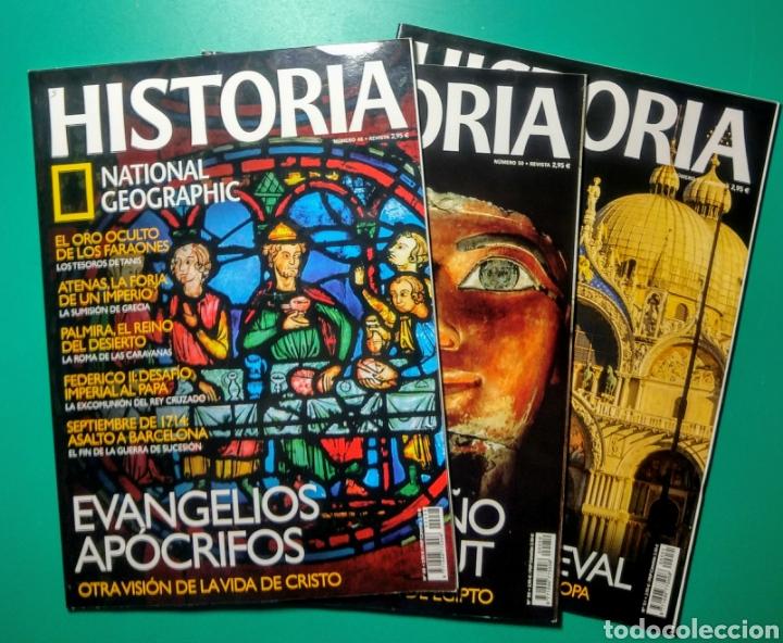 19 REVISTAS. HISTORIA. NATIONAL GEOGRAPHIC. (Coleccionismo - Revistas y Periódicos Modernos (a partir de 1.940) - Revista National Geographic)