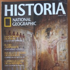 Coleccionismo de National Geographic: HISTORIA NATIONAL GEOGRAPHIC Nº65. SACERDOTES DEL ANTIGUO EGIPTO, INCAS, EL CID CAMPEADOR, ACRÓPOLIS. Lote 202777622