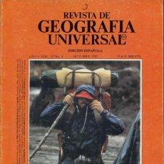 Collectionnisme de National Geographic: REVISTA DE GEOGRAFIA UNIVERSAL - VOL 12 Nº 4 OCTUBRE 1982. Lote 202893210