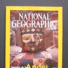 Coleccionismo de National Geographic: NATIONAL GEOGRAPHIC – IMPERIOS DE LOS ANDES – MOMIAS INCAS – JUNIO 2002. Lote 205307228