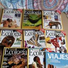 Coleccionismo de National Geographic: LOTE DE REVISTAS ECOLOGÍA Y EJEMPLAR DE VIAJES DE NATIONAL GEOGRAPHIC. Lote 206813185