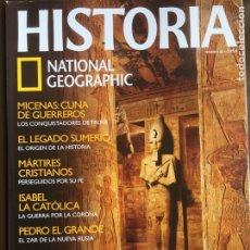 Coleccionismo de National Geographic: HISTORIA NATIONAL GEOGRAPHIC Nº 43. LA SUCESIÓN DE RAMSÉS II.PEDRO EL GRANDE.MICENAS. SUMERIOS.. Lote 207630747