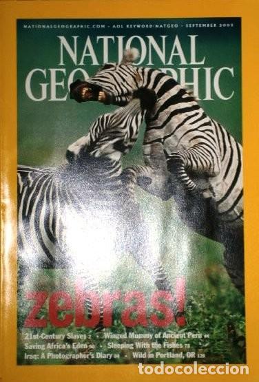 Coleccionismo de National Geographic: 12 Revistas National Geographic (Año 2003 completo) Edición original norteamericana en inglés - Foto 2 - 207876093
