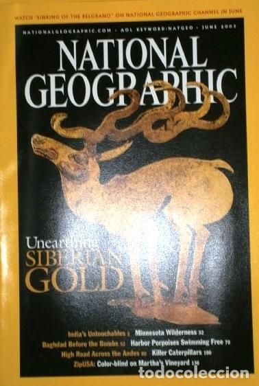 Coleccionismo de National Geographic: 12 Revistas National Geographic (Año 2003 completo) Edición original norteamericana en inglés - Foto 3 - 207876093
