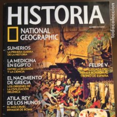 Collezionismo di National Geographic: HISTORIA NATIONAL GEOGRAPHIC Nº 103. LA PESTE NEGRA.ATILA, REY DE LOS HUNOS.SUMERIOS .FELIPEV.. Lote 207967990