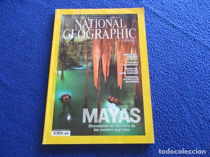 REVISTA NATIONAL GEOGRAPHIC AGOSTO 2013 MAYAS REVELANDO LOS SECRETOS DE LOS CENOTES SAGRADOS (Coleccionismo - Revistas y Periódicos Modernos (a partir de 1.940) - Revista National Geographic)