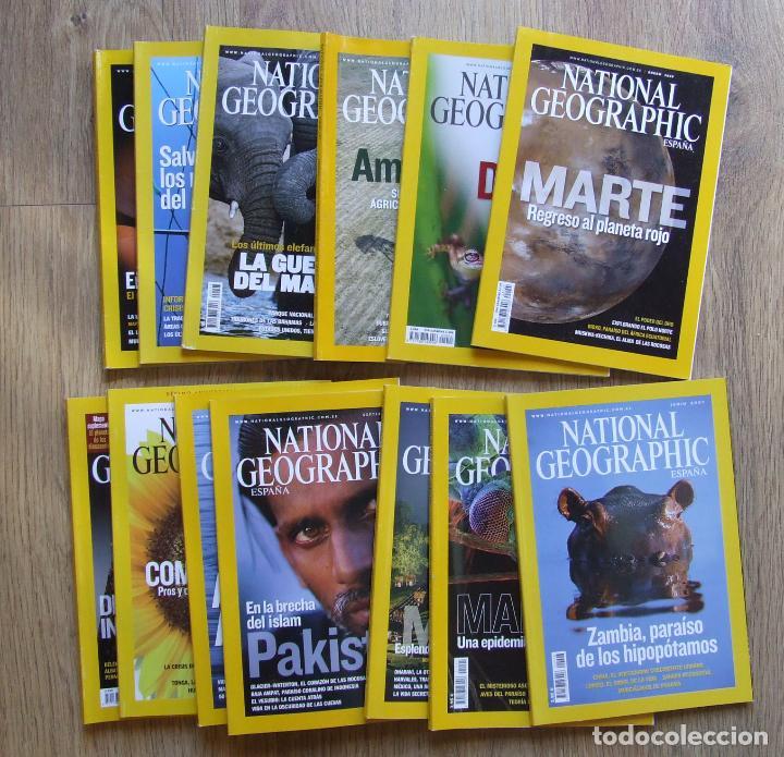 LOTE 13 REVISTAS NATIONAL GEOGRAPHIC ESPAÑA AÑOS 2007 Y 2009 (Coleccionismo - Revistas y Periódicos Modernos (a partir de 1.940) - Revista National Geographic)