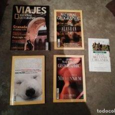 Coleccionismo de National Geographic: LOTE 4 REVISTAS NATIONAL GEOGRAPHIC - VIAJES PÓSTER - MILLENIUM - PÓSTER MAPA GRAN BRETAÑA E IRLANDA. Lote 210371645