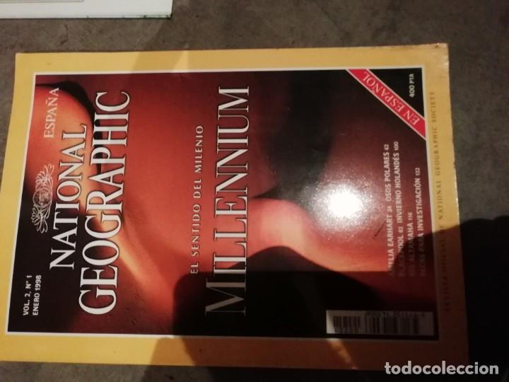 Coleccionismo de National Geographic: Lote 4 revistas National Geographic - Viajes Póster - Millenium - Póster mapa gran Bretaña e Irlanda - Foto 4 - 210371645