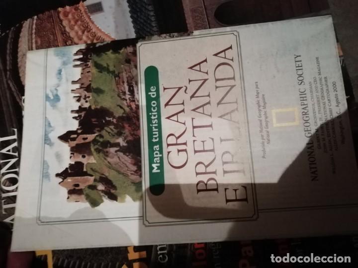 Coleccionismo de National Geographic: Lote 4 revistas National Geographic - Viajes Póster - Millenium - Póster mapa gran Bretaña e Irlanda - Foto 10 - 210371645