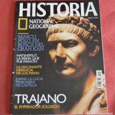 Collezionismo di National Geographic: HISTORIA NATIONAL GEOGRAPHIC - Nº 8 - TRAJANO - MARCO POLO - JUANA LA LOCA. Lote 212091402