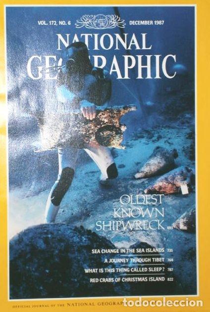 Coleccionismo de National Geographic: 12 Revistas National Geographic (Año 1987 completo) Edición original norteamericana en inglés - Foto 7 - 217989202