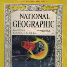 Coleccionismo de National Geographic: THE NATIONAL GEOGRAPHIC MAGAZINE. / JULY 1960. ATLAS MAP SUPLEMENT: HAWAII. Lote 218865956