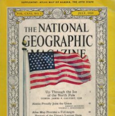 Coleccionismo de National Geographic: THE NATIONAL GEOGRAPHIC MAGAZINE. / JULY 1959. UP THROUGH THE ICE OF THE NORTH POLE. Lote 218866183