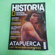 Coleccionismo de National Geographic: REVISTA HISTORIA NATIONAL GEOGRAPHIC Nº 186 - ATAPUERCA, LAS LÍNEAS DE NAZCA, JEROGLÍFICOS. Lote 219700907
