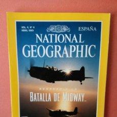 Coleccionismo de National Geographic: NATIONAL GEOGRAPHIC ESPAÑA. REGRESO A LA BATALLA DE MIDWAY. ABRIL 1999.. Lote 220188742