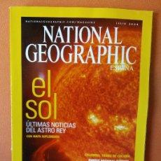 Coleccionismo de National Geographic: NATIONAL GEOGRAPHIC ESPAÑA. EL SOL. ÚLTIMAS NOTICIAS DEL ASTRO REY. JULIO 2004.. Lote 220188832
