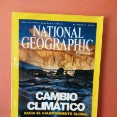 Coleccionismo de National Geographic: NATIONAL GEOGRAPHIC ESPAÑA. CAMBIO CLIMÁTICO HACIA EL CALENTAMIENTO GLOBAL. SEPTIEMBRE 2004.. Lote 220189066