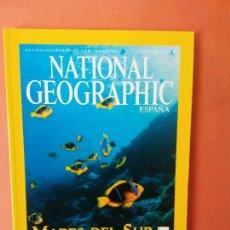 Coleccionismo de National Geographic: NATIONAL GEOGRAPHIC ESPAÑA. MARES DEL SUR. EL REFUGIO CORALINO DE LAS ISLAS PHOENIX. MARZO 2004.. Lote 220189465