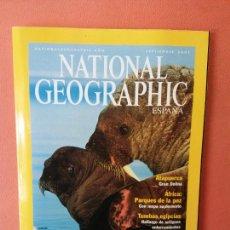 Coleccionismo de National Geographic: NATIONAL GEOGRAPHIC ESPAÑA. MORSAS. SEPTIEMBRE 2001.. Lote 220189583